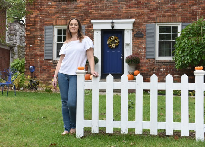 Christina Clark of Farmington in her 2-story colonial home she refurbished as seen on Wednesday, October 10, 2018.