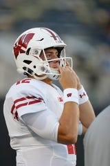 If Michigan can slow down Wisconsin running back Jonathan Taylor, it would put the pressure on Badgers quarterback Alex Hornibrook (pictured).