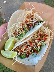 Vietnamese-inspired pho tacos from Vegan Eats and Treats will add culinary excitement to the Evansville Taco Fest this Saturday, Oct. 13.