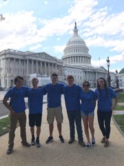 Alexandra Liskai said her favorite part of the Washington, D.C. trip was connecting with students from around the country that share her passion for agriculture. Here, Liskai, on the left, poses with  Brandon Torres from Arizona, Bobby Bench from Genoa, Brady Linker from Genoa, Trey Schroeder from Wauseon, and Jozlyn Smallman from Wauseon.   Smallman from Wauseon.