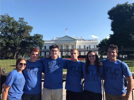 In July, Alexandra Liskai attended the Washington Leadership Conference with FFA members from around the country. Here, she poses in front of the White House with other conference attendees, from left, Jozlyn Smallman from Wauseon, Trey Schroeder from Wauseon, Brady Linker from Genoa, Bobby Bench from Genoa, Liskai, and Brandon Torres from Arizona.