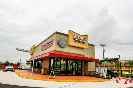 Krispy Kreme first announced it was coming to Fort Myers in spring 2015. The store, located in the new Grand Central complex on Cleveland Avenue, opens Tuesday.