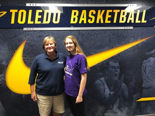 Green Bay Preble standout Kendall Renard recently visited Toledo, which offered the junior forward a scholarship.