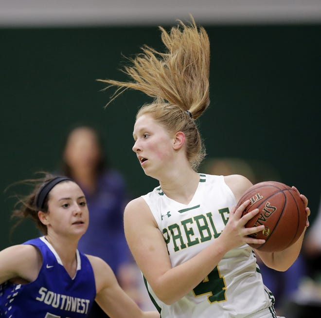 Green Bay Preble's Kendall Renard (4) has six offers from NCAA Division I schools entering her junior season with the Hornets.