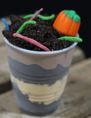 Those are real worms coming out of the dirt cup, they've just been dehydrated and candied.