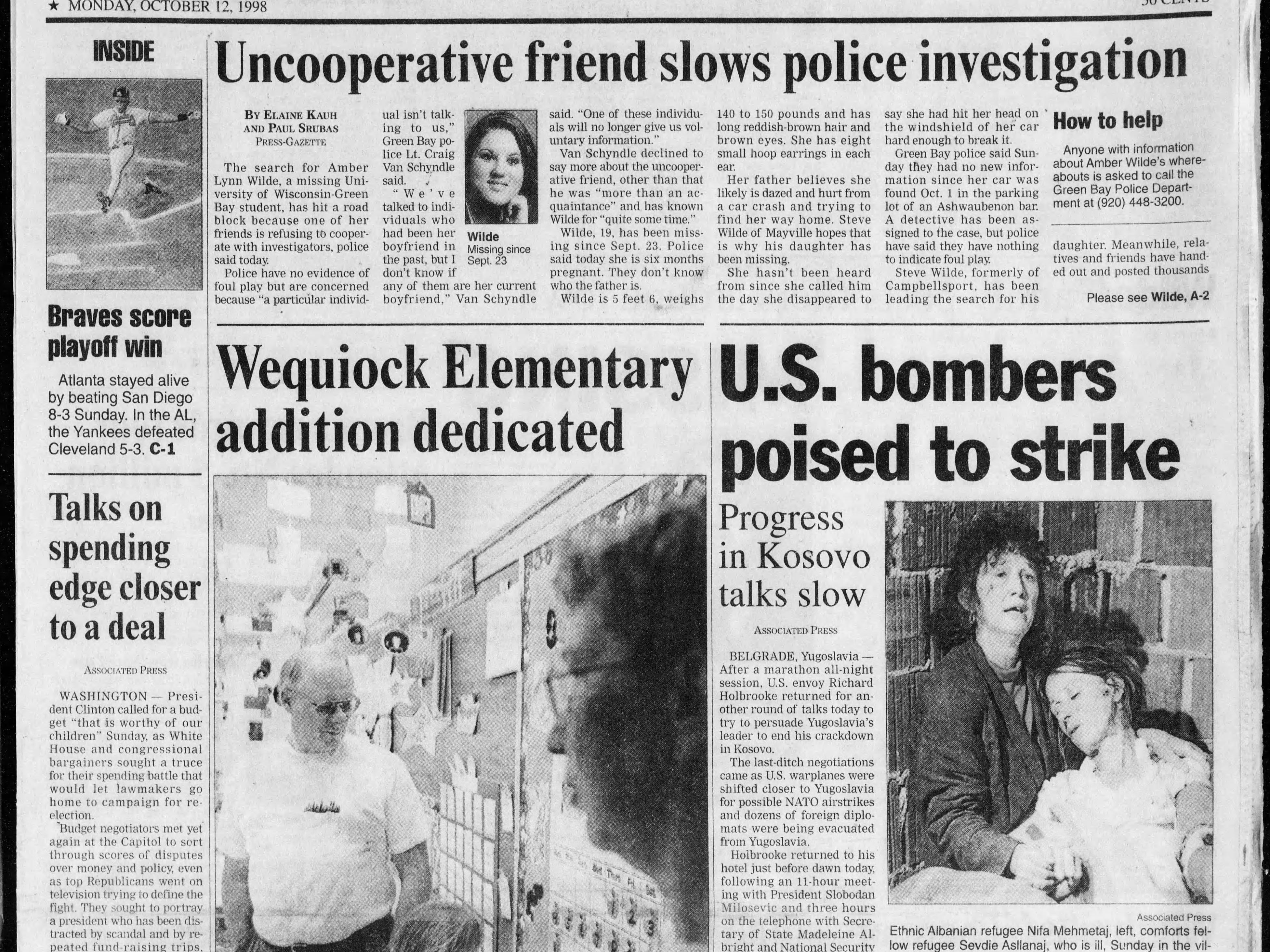 Today in History: Oct. 12, 1998