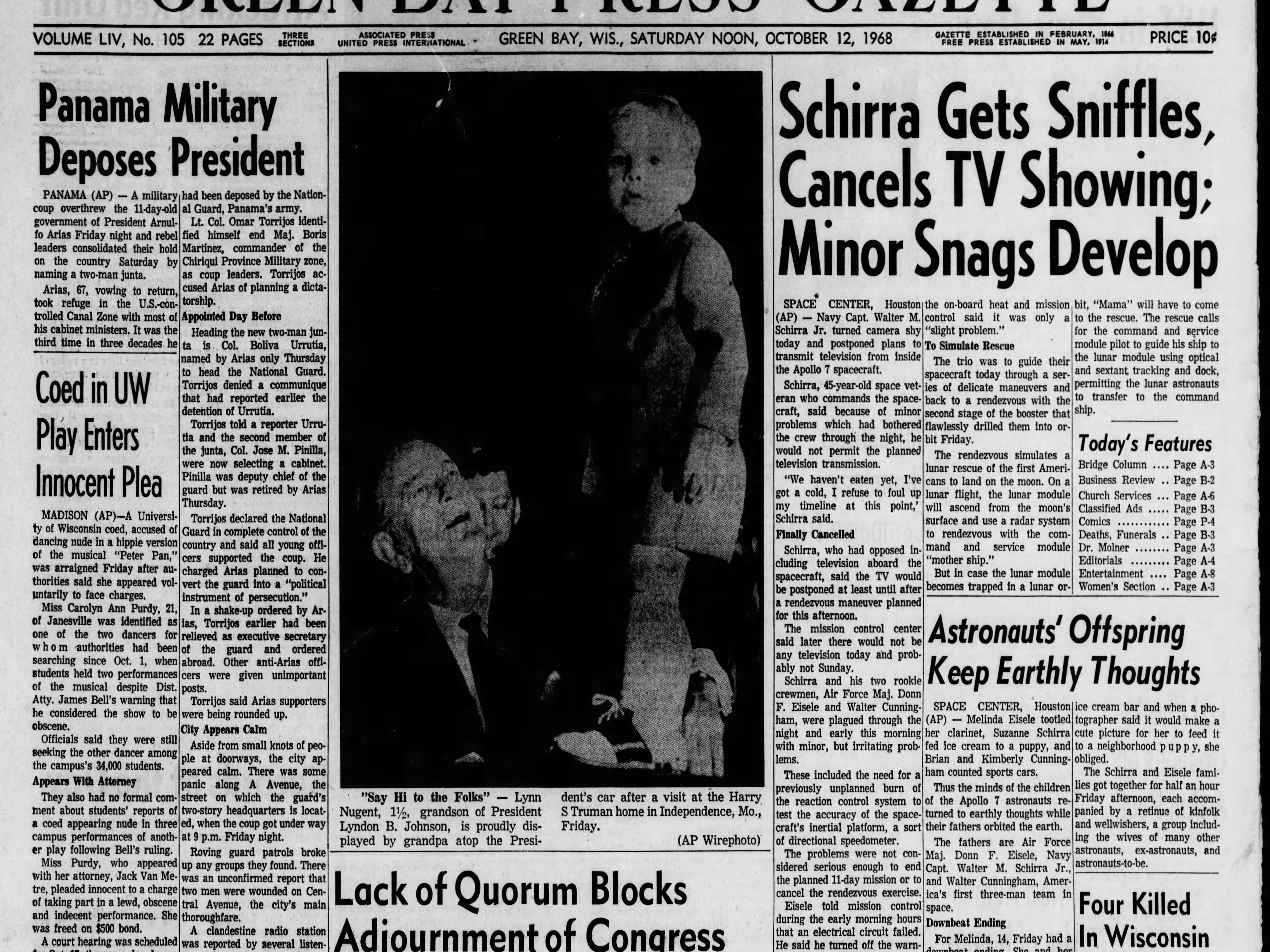 Today in History: Oct. 12, 1968