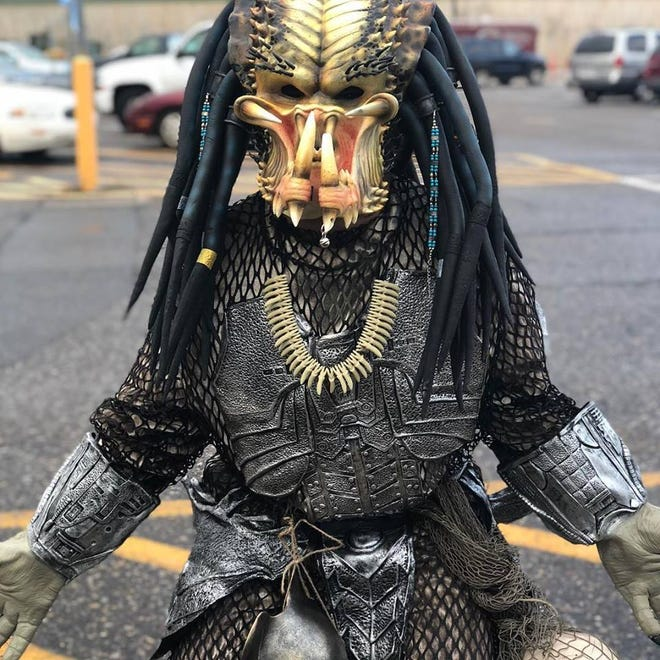 Eric Collins,  seen in his Predator costume, will be the special guest at Trail of Terror south of Oconto, on Friday and Saturday, Oct. 19-20.