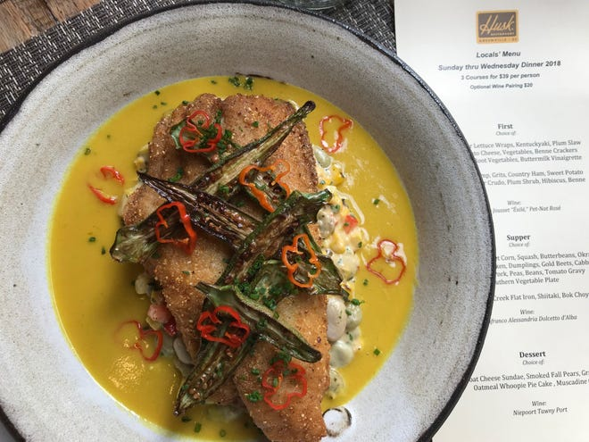 The new Husk Local's Menu offers a chance to try three of the restaurant's locally-sourced dishes for a set price of $39.