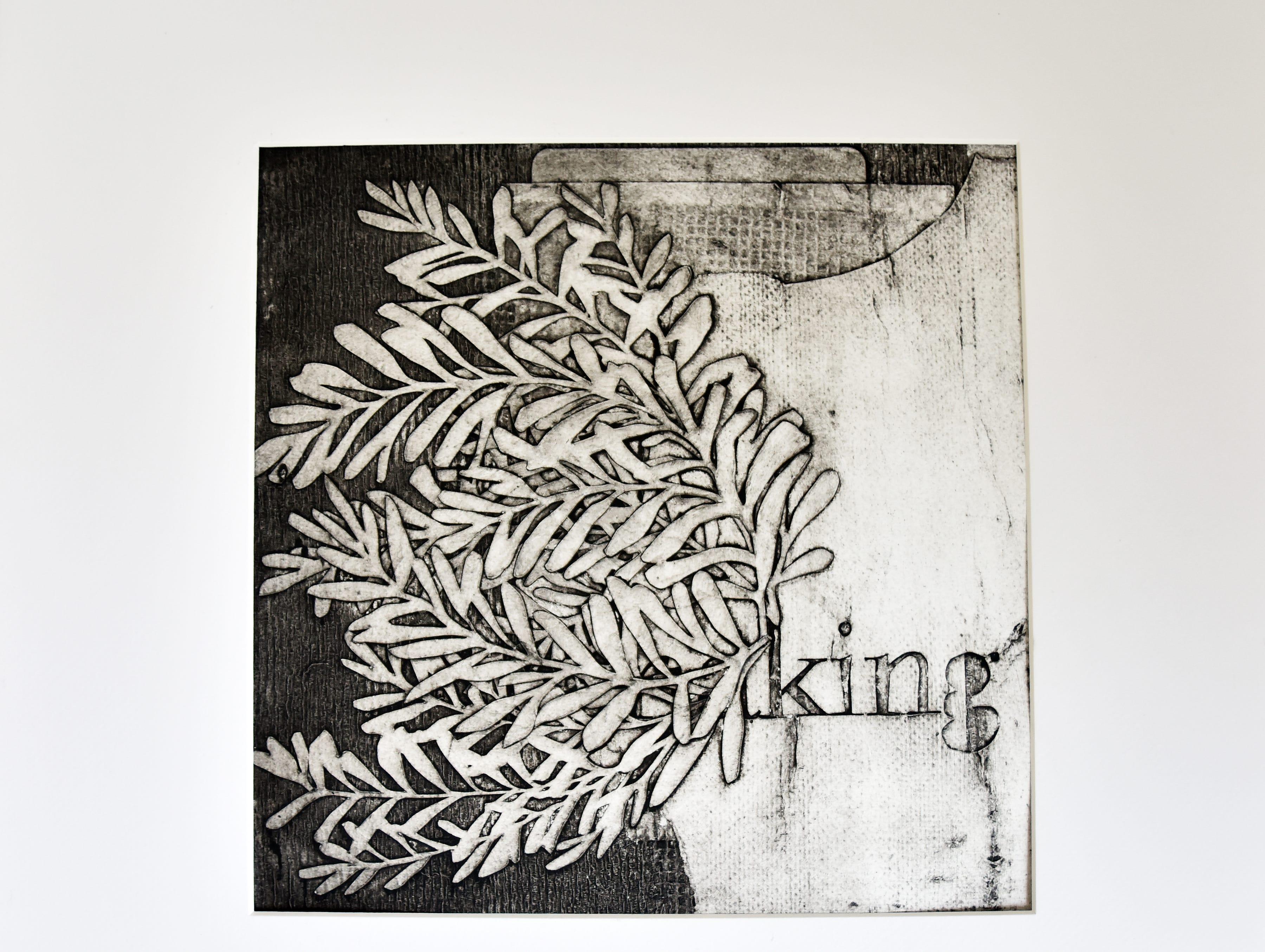 A print by artist Elizabeth Speaker.