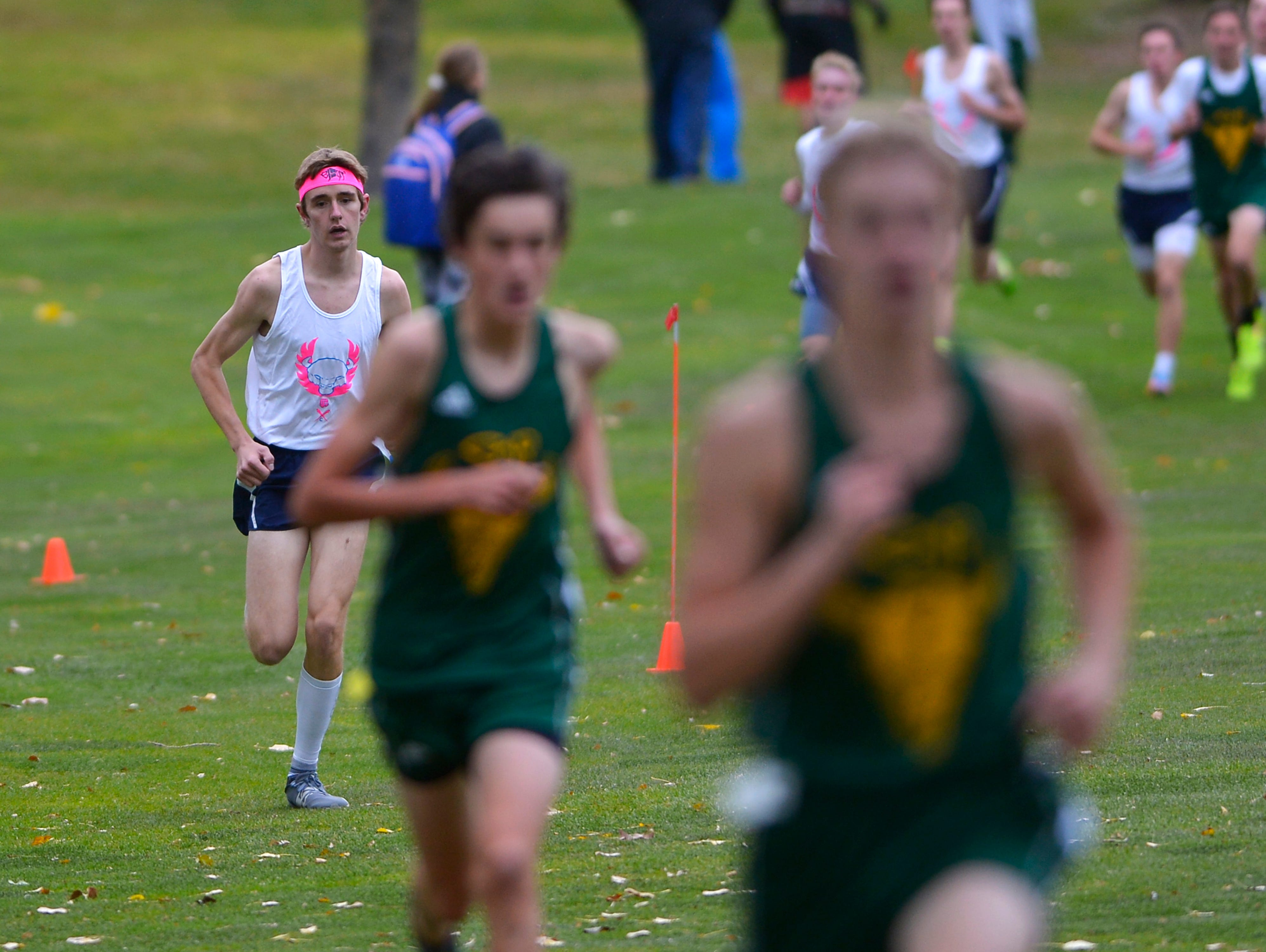 The crosstown cross country meet on Wednesday at Anaconda Hills Golf Course.