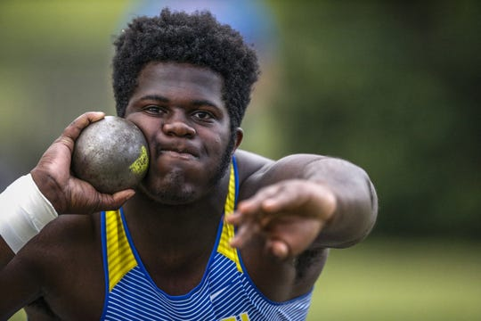 In addition to football, Cole Brevard competes in the shot put in track and field.