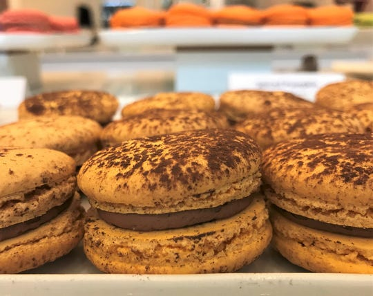 Cocoa-dusted Chocolate Passion macarons at Macaron Bar, 425 Mass Ave., Indianapolis.