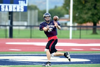 Quarterback Jarred Freije of the Susquehanna Valley Sabers