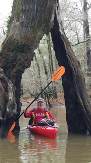 Bob May enjoys a day trip on the headwaters of the Pearl River.