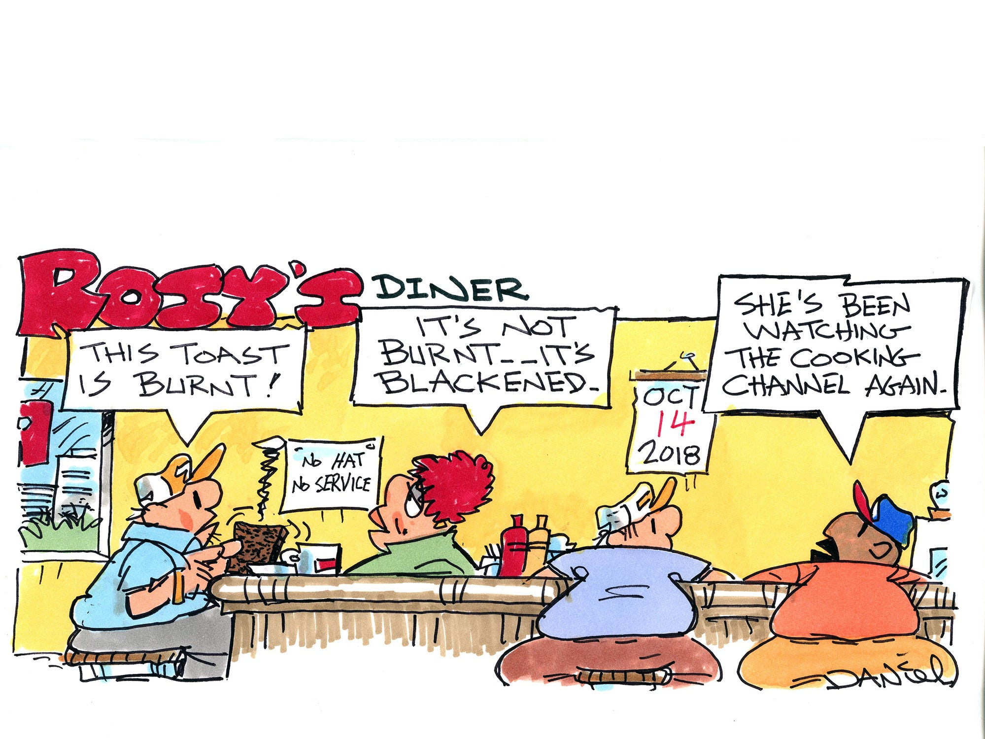 Charlie Daniel cartoon for Sunday, Oct. 14, 2018