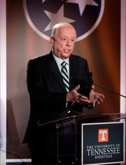 Phil Bredesen speaks during Wednesday's debate.