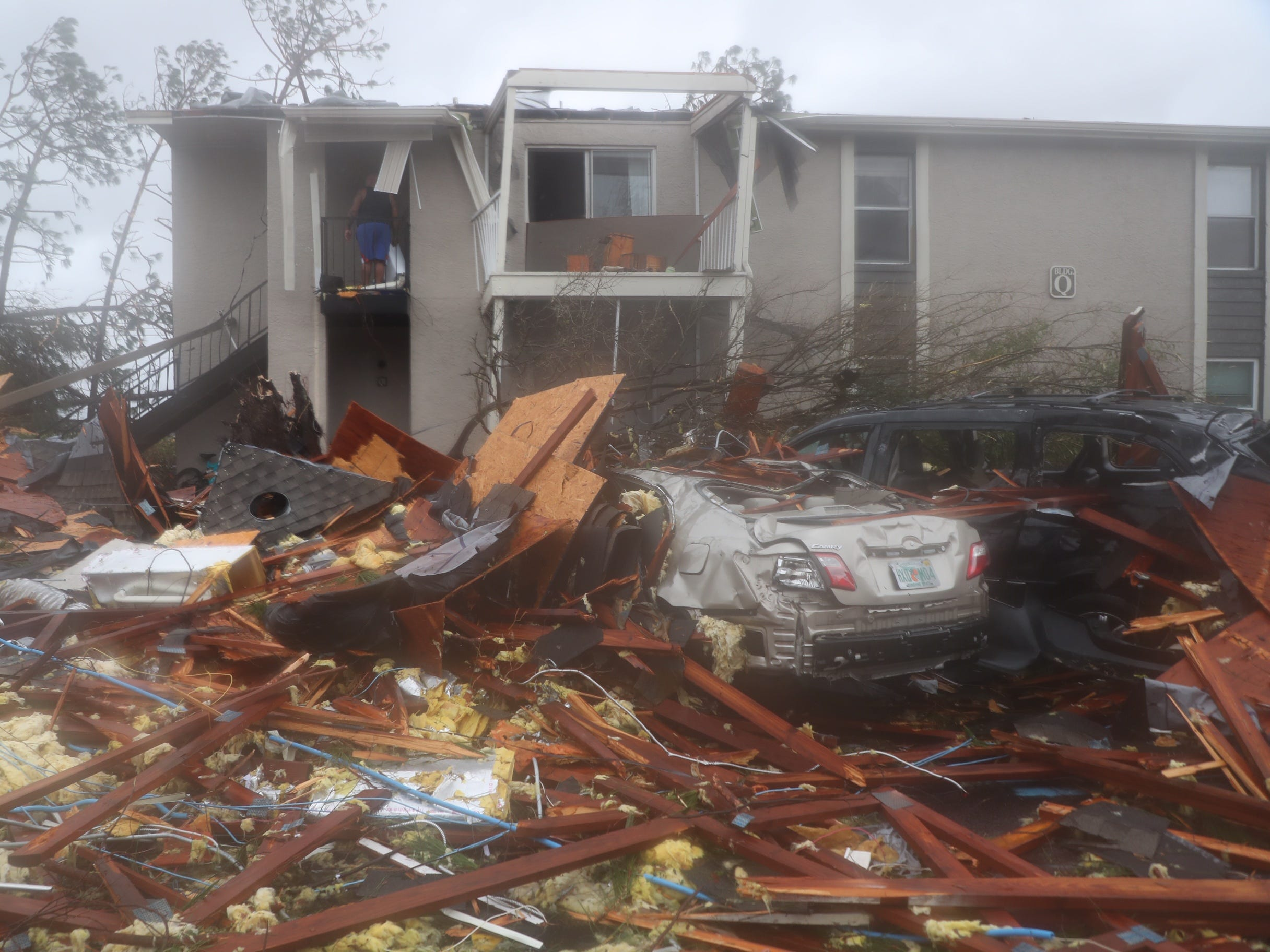 Oct 10, 2018; Panama City, FL, USA; Heavy damage caused by Hurricane Michael in Panama City, Fla. Mandatory credit: Andrew West/The News via USA TODAY NETWORK