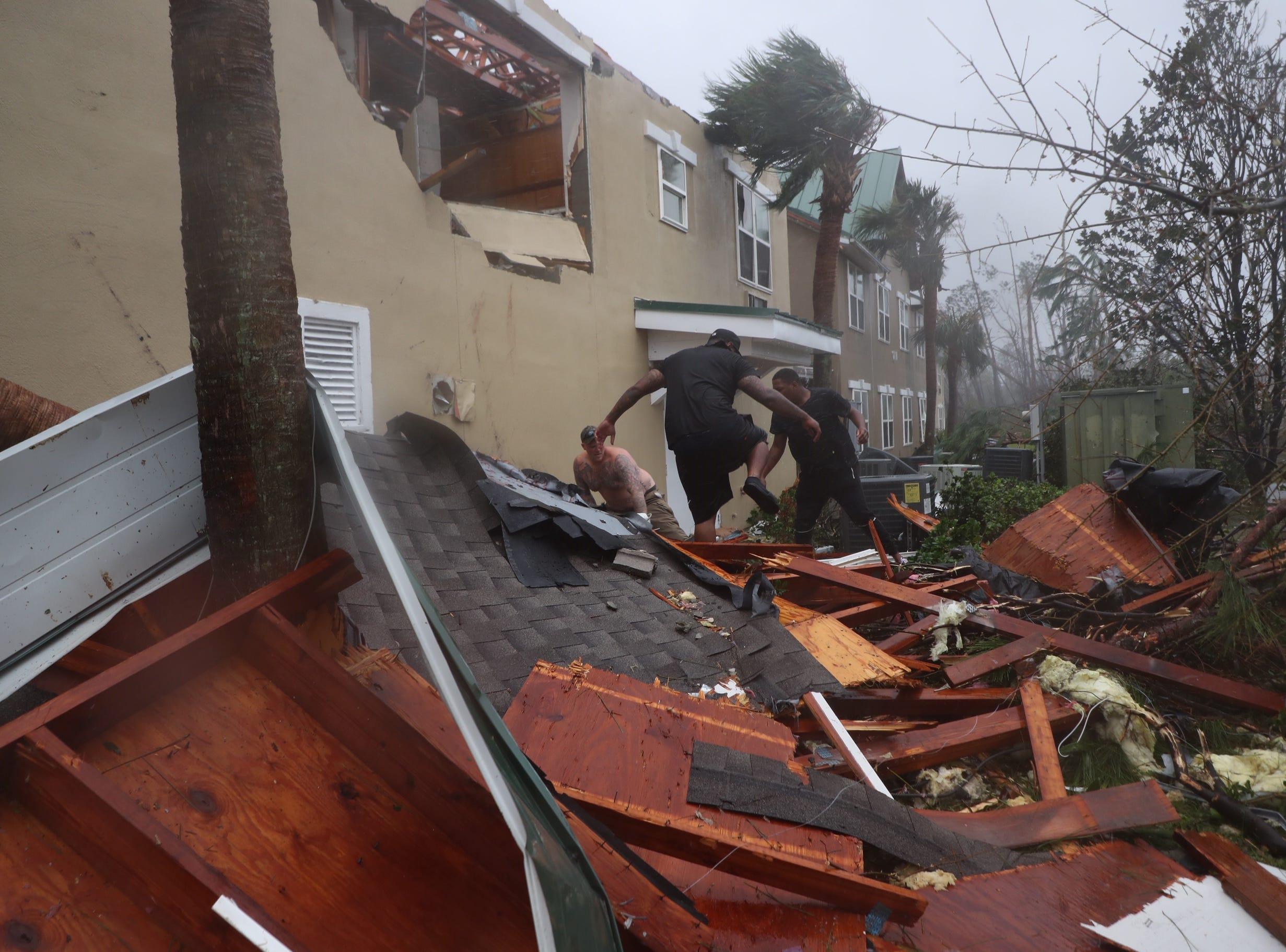 Oct 10, 2018; Panama City, FL, USA; Heavy damage caused by Hurricane Michael in Panama City, Fla.