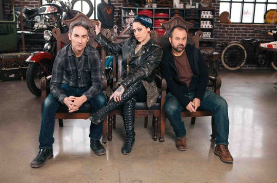 The Crew of American Pickers are heading to Louisiana to find historically significant items to rescue. (From left: Mike Wolfe, Danielle Colby, and Frank Fritz)