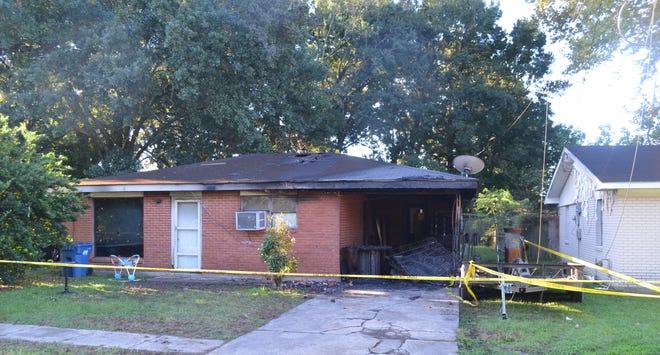 A home on East Cedar Street was heavily damaged Wednesday night in Lafayette.