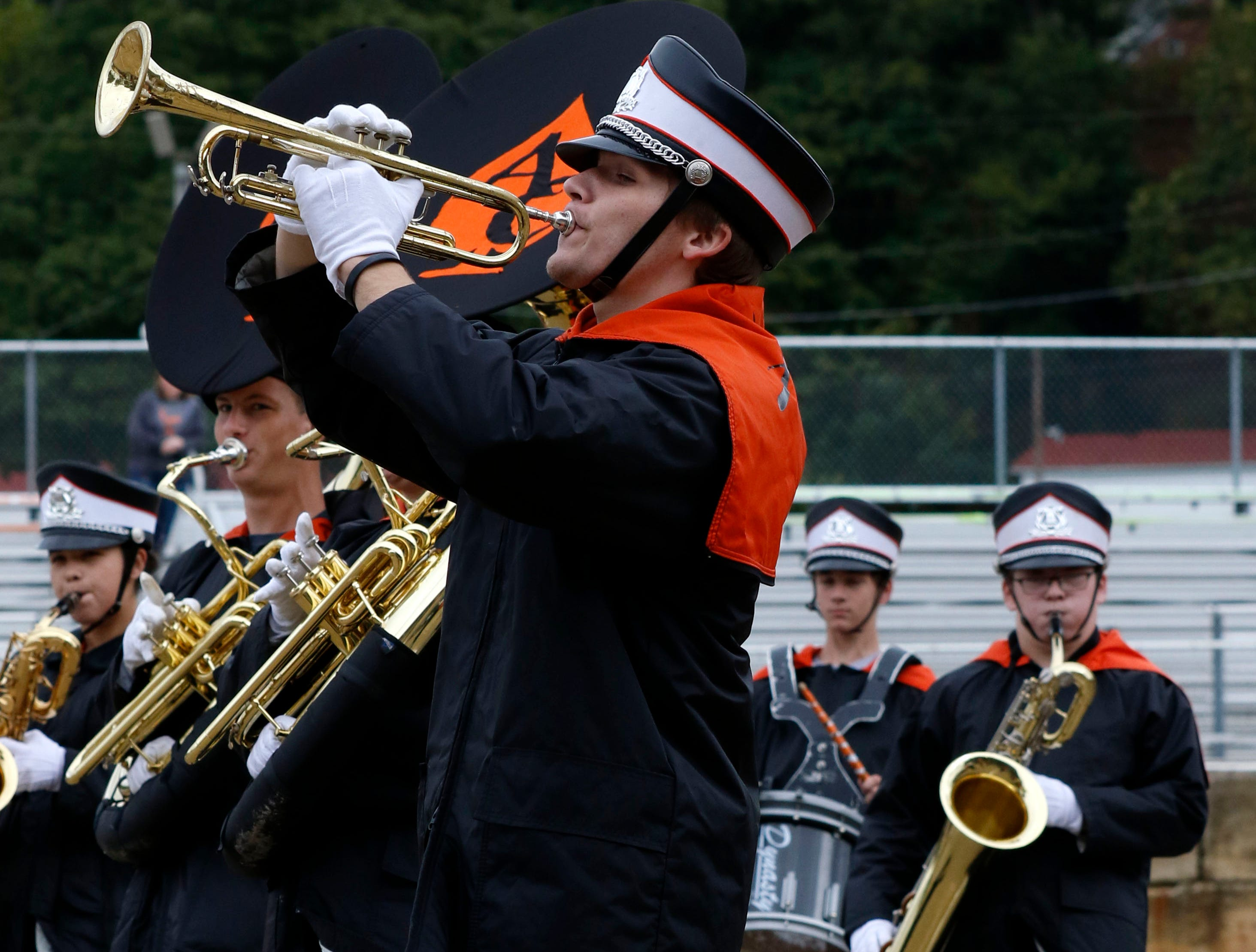 Eight county high school marching bands took part in the annual Parade of Bands Thursday, Oct. 11, 2018, at Fairfield County Fair in Lancaster.