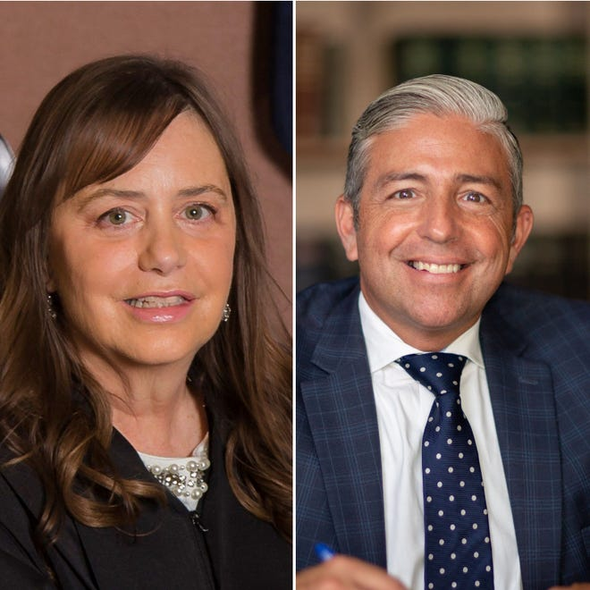 L. Suzanne Geddis and Dennis Brewer are running for 44th Circuit Court Judge.
