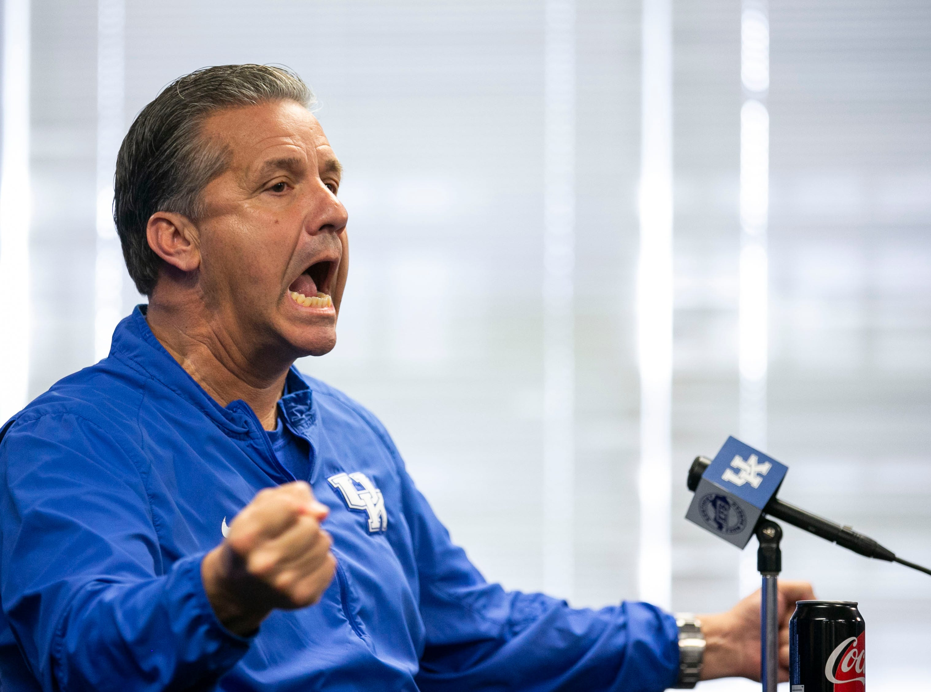 "Kentucky basketball coach John Calipari said during media day Thursday that only three or four kids could go to the NBA from high school and not be ""road kill.'"" ""What does this do to the kids. It all comes back to that. How do we make this better (for them)?"""