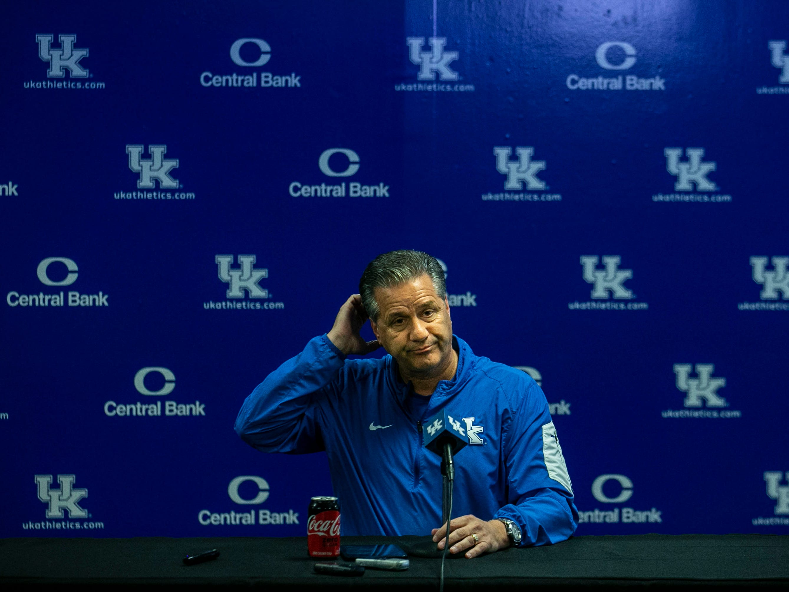 """Probably wouldn't have him come talk to the team based on it would put North Korea on the backburner,"" John Calipari said with a laugh, referring to the media attention that having Rick Pitino at UK would elicit. ""Let me just say that"" while talking during Media Day Thursday afternoon at the Joe Kraft Center."