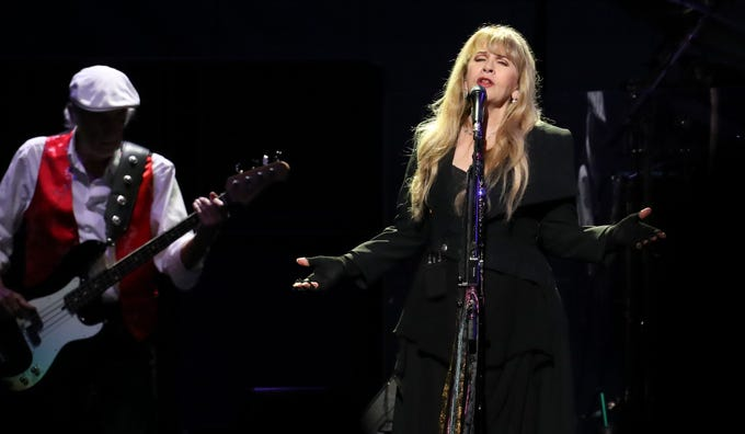 Stevie Nicks performs with Fleetwood Mac at the Yum Center in Louisville. 