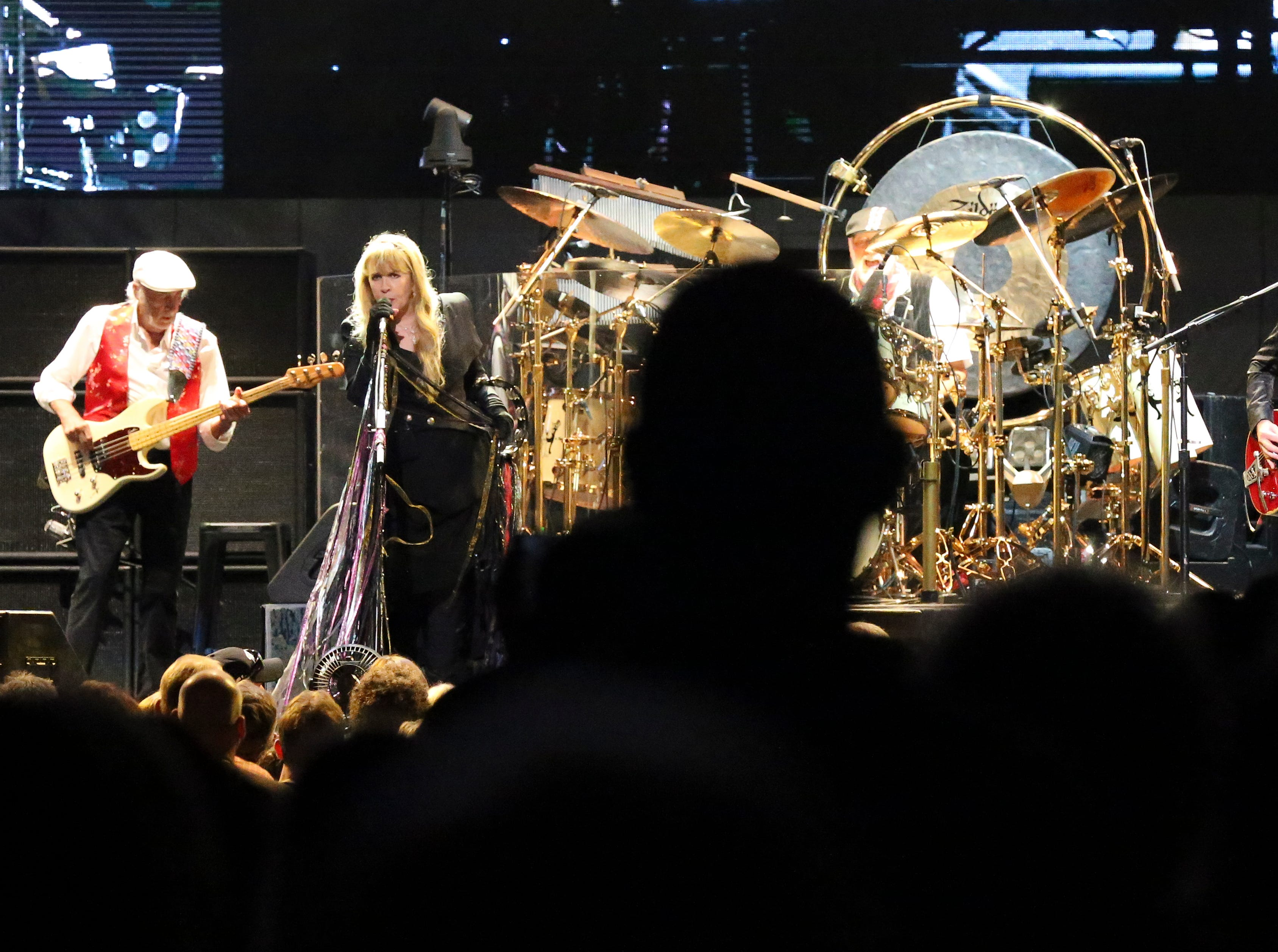 Fleetwood Mac performed at the Yum Center in Louisville. 