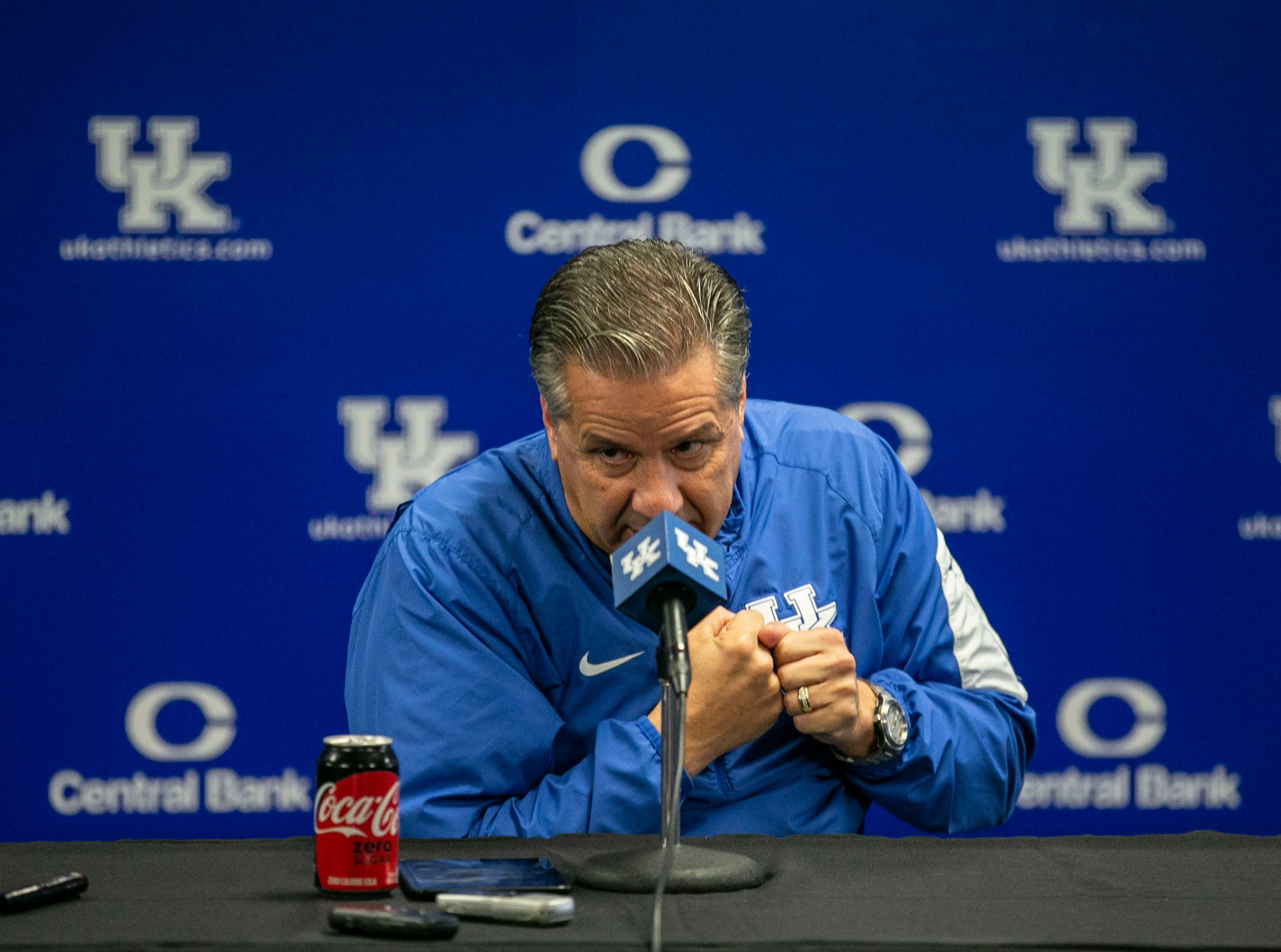 Kentucky basketball coach John Calipari talked about the UK football team's success as well as gave a several minute-long answer about players and the NBA during a 45 minute press conference about the 2018-19 team Thursday afternoon in Lexington.