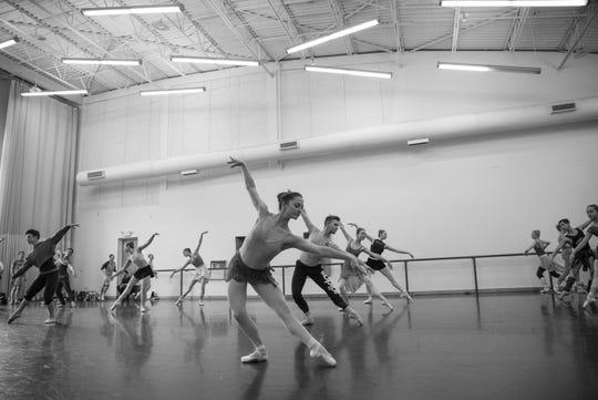 Louisville Ballet dancers in rehearsal.