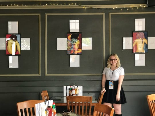"Erin Reyes shows her work at ArtPrize, which ran Sept. 19-Oct. 7, 2018 in Grand Rapids. Her work will be featured Friday, Oct. 12, 2018 at Urban Beat in Lansing's Old Town as part of a ""Healing Through Art"" exhibit."