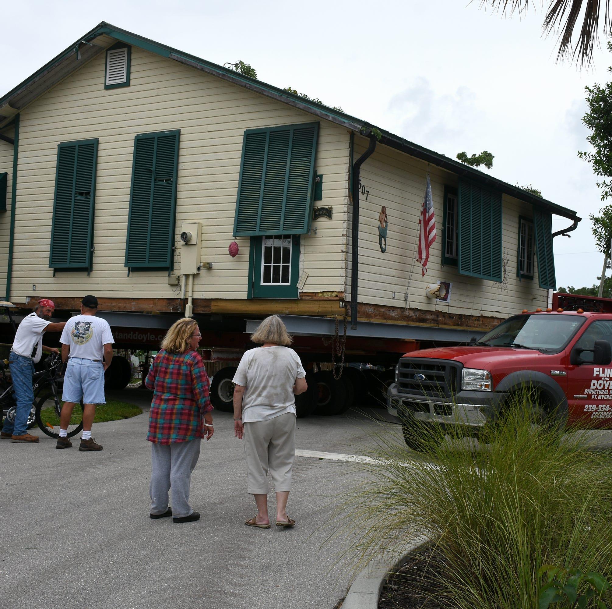 Photos: Goodland House on the move