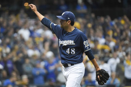 The 34-year-old Joakim Soria throws four different pitches to keep hitters guessing and still has the stuff to get strikeouts when he needs them (75 in 60 2/3 innings for the season).
