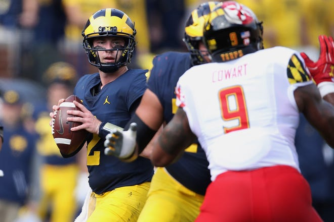 Shea Patterson is in his first season as the starting quarterback at Michigan.