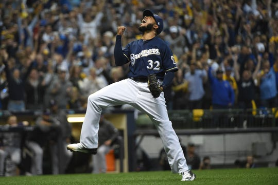 In 253 career appearances with the Brewers, Jeremy Jeffress is 21-4 with a 2.17 ERA and 42 saves. In 91 games with Kansas City, Toronto and Texas, he is 4-3 with a 4.76 ERA and one save.