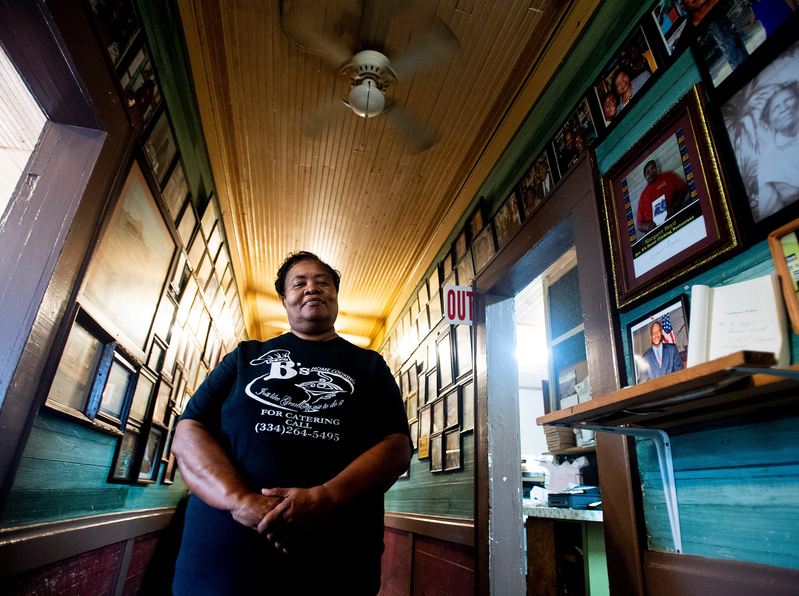 Margaret Boyd poses in her restaurant, Mrs. B's Home Cooking, in Montgomery, Ala., on Wednesday October 10, 2018.