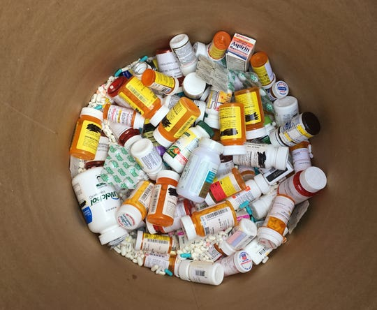 Middle Tennesseans disposed of hundreds of pounds of unused or expired prescription medication on Drug Take Back Day on Saturday, Oct. 26, 2019.