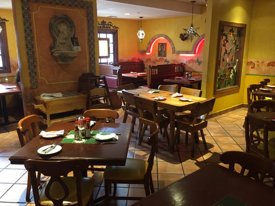 Hacienda Don Manuel, whose interior is shown here, features rustic décor, which Sánchez intends to mimic at his new restaurant.