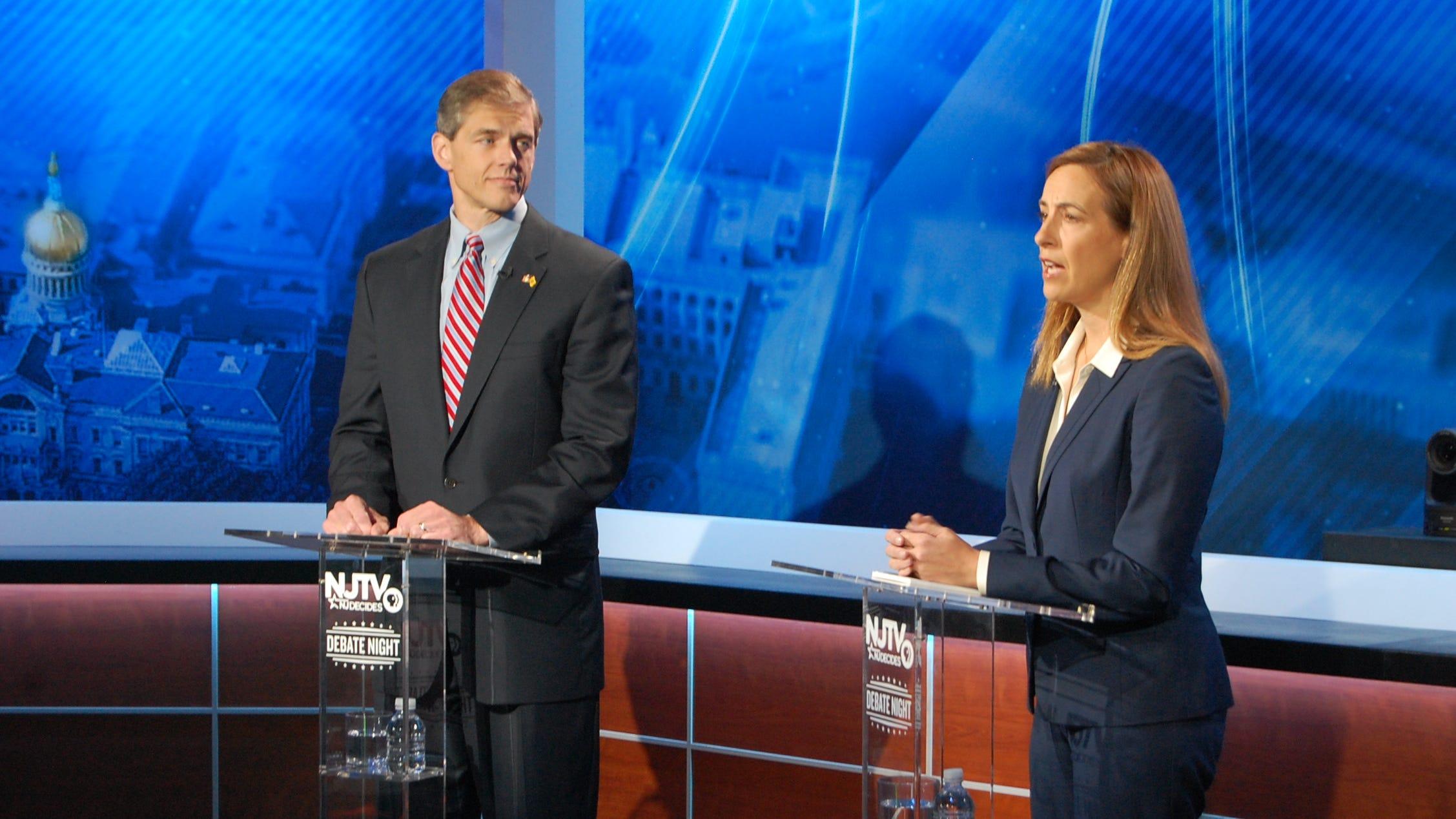 Mikie Sherrill-Jay Webber CD-11 NJTV Debate at the Agnes Varis NJTV Studio in Newark, NJ on October 10, 2018