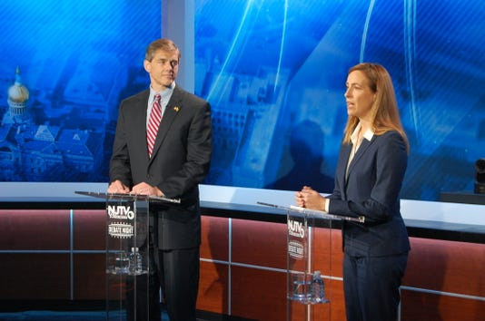 Mikie Sherrill-Jay Webber CD-11 NJTV Debate at the Agnes Varis NJTV Studio in Newark, NJ on October 10, 2018