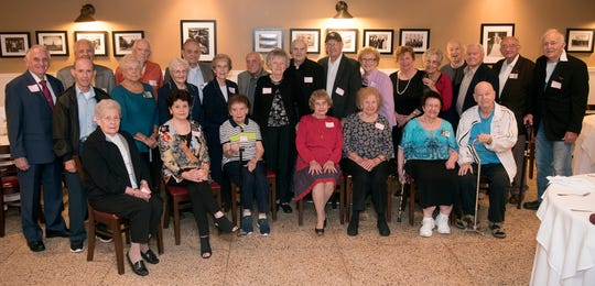 The 26 members of the Clifton High School Class of 1948 attended at their 70th class reunion. They gather again in five years.