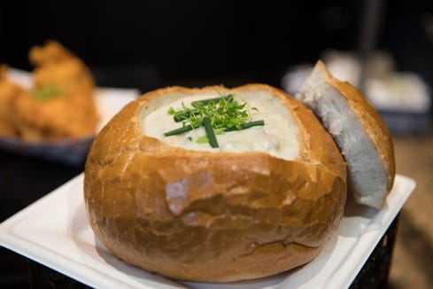 Miles Wood-inspired clam chowder