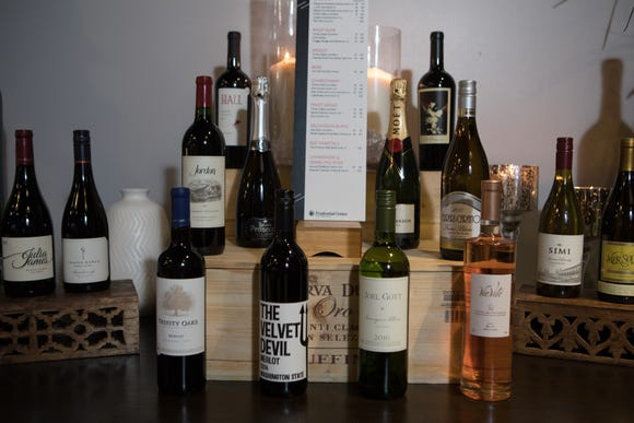 A sample of the wine selection available at Prudential Center.