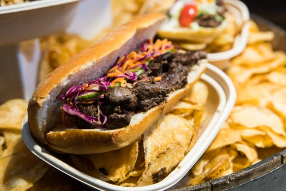 Bahn mi sandwich available at Prudential Center.