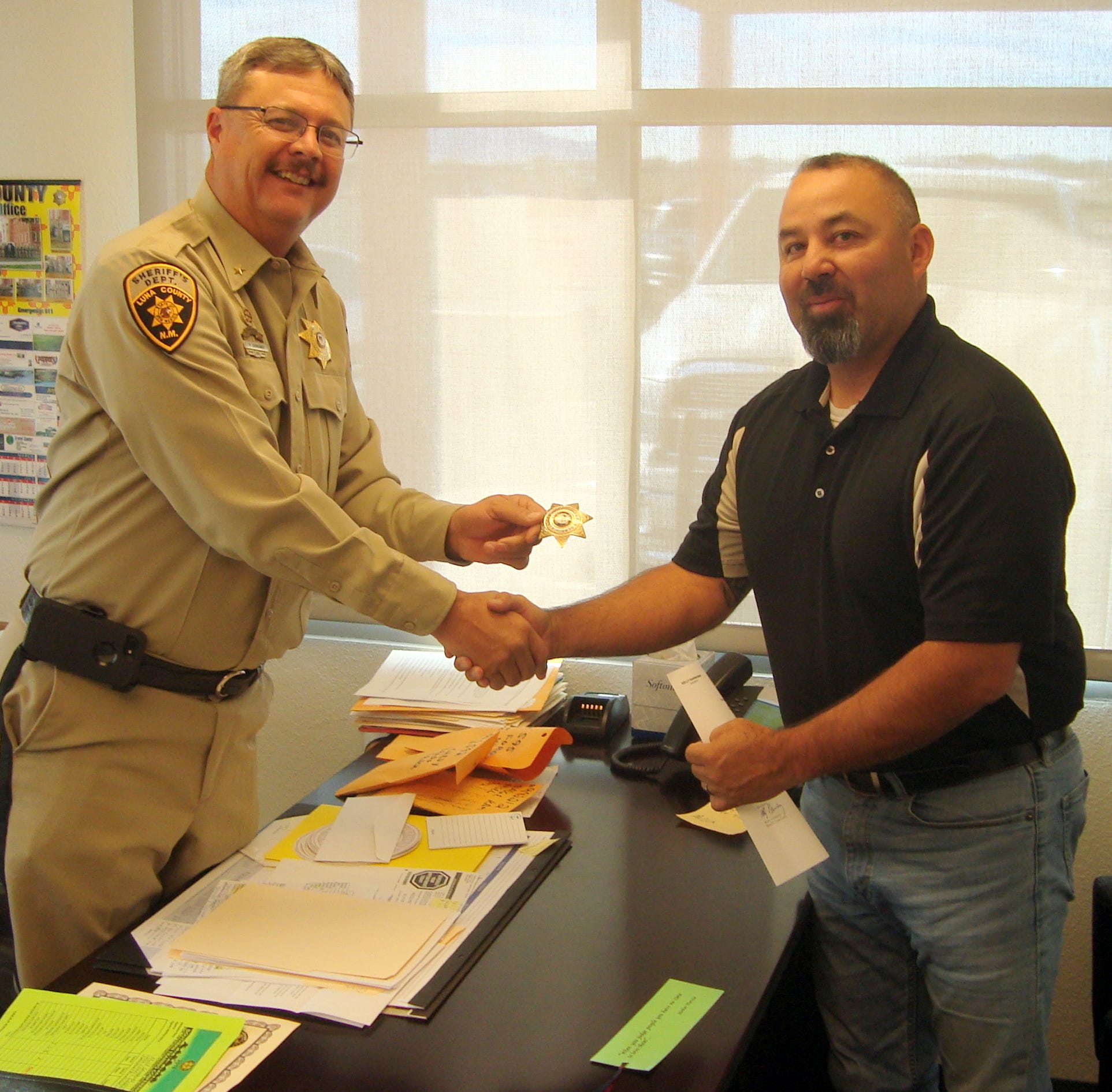 Investigator David Holguin promoted to Lieutenant for Luna County Sheriff's Office