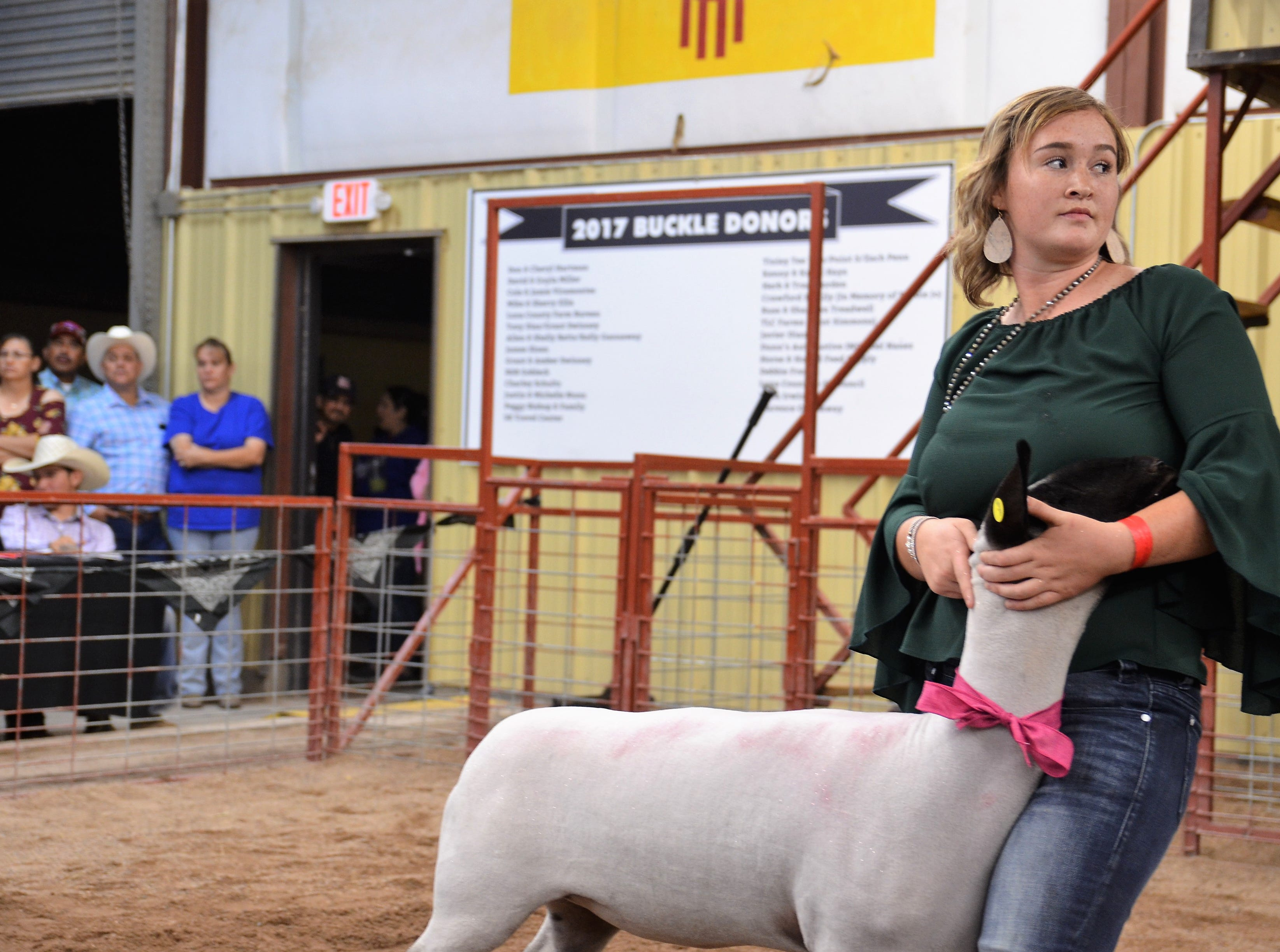 Presley Jackson with her Third Place Class 1 Lamb