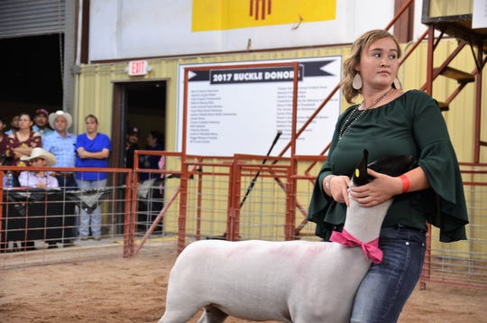 Presley Jackson showed her lamb during the 2018 Southwestern New Mexico State Fair in Deming, NM.
